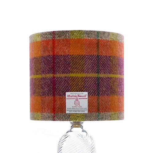 Orange, Purple & Yellow Tartan Harris Tweed Lampshade