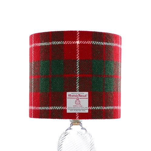 Red & Green Tartan Harris Tweed Lampshade