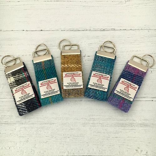 Blue & Green Tartan Selection - Harris Tweed Keyrings