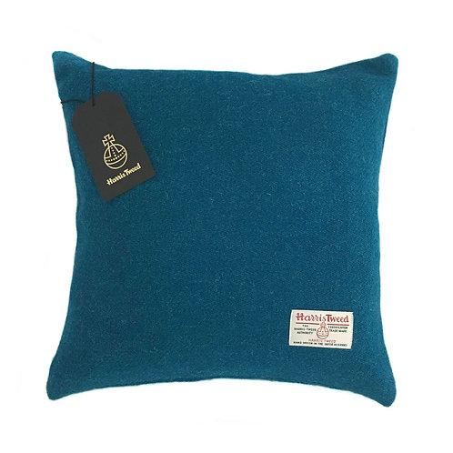Kingfisher Blue Harris Tweed Cushion Cover
