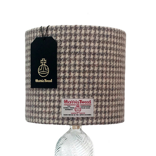 Beige & Grey Houndstooth Harris Tweed Lampshade