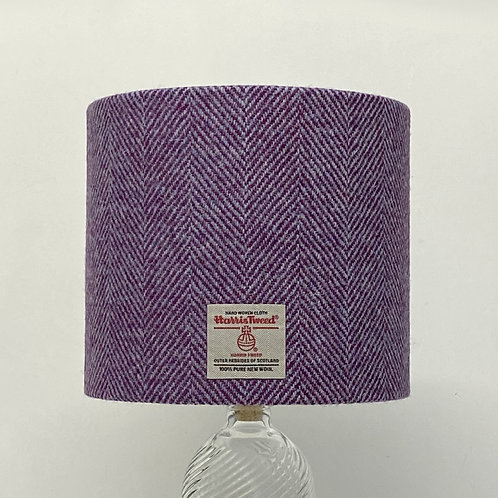 Plum & Lilac Herringbone Harris Tweed Lampshade