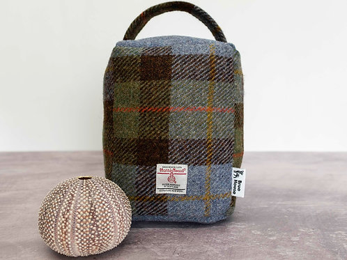 Hunting MacLeod Tartan Check Harris Tweed Door Stop
