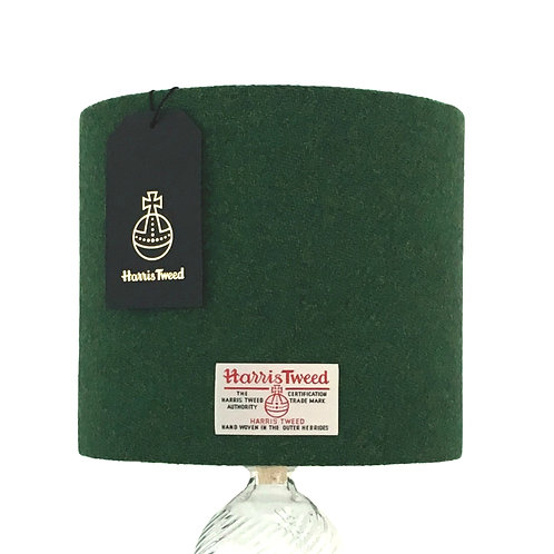 Forest Green Harris Tweed Lampshade