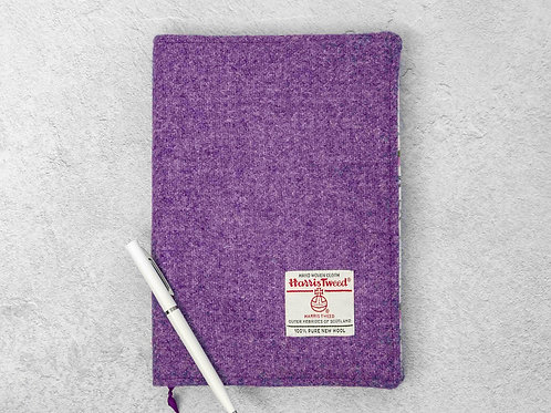 Violet Harris Tweed Padded A5 Notebook Cover