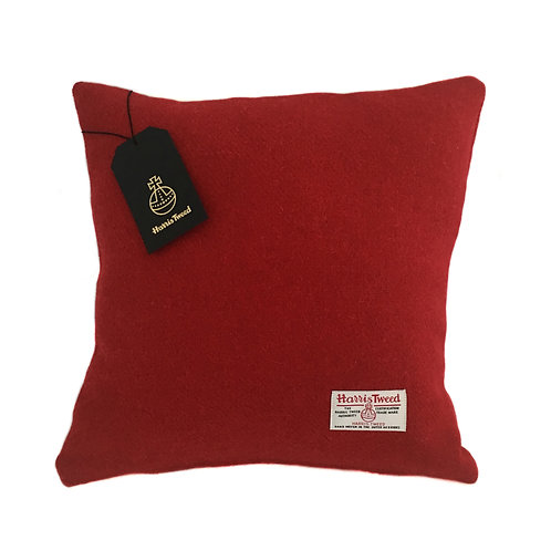 Berry Red Harris Tweed Cushion Cover