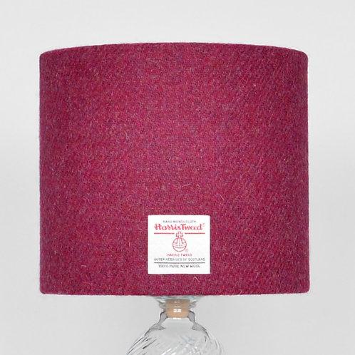 Raspberry Harris Tweed Lampshade