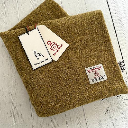 Mustard Yellow Harris Tweed Cushion Cover