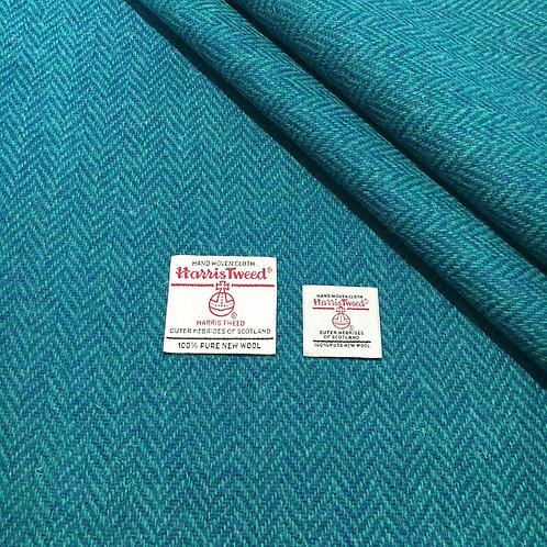 Teal & Turquoise Herringbone Harris Tweed - DIY Lampshade Kit