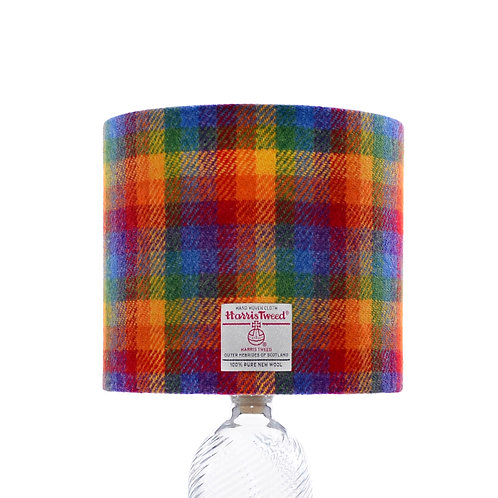 Rainbow Check Harris Tweed Lampshade