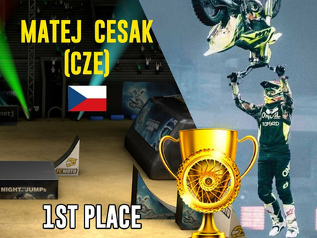 Matej Cesak  first ever e-FMX World Champion.  All new Best Trick mode integrated in final episode