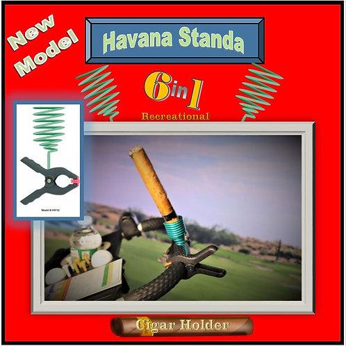 Havana Standa Golf Cigar Holder 2 w Clamp