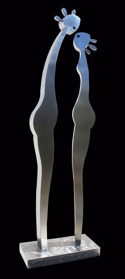 LE BAISER 8 ex. inox  L 30 x 14 H 97cm