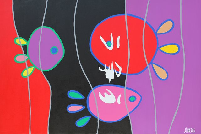 AQUARIUM EN COULEURS 60 X 90