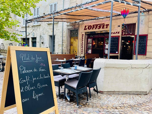 terrase de l'Offset à Avignon
