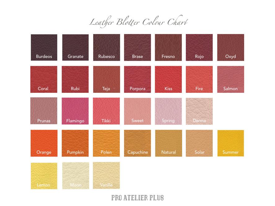 Leather Blotter Colour Chart