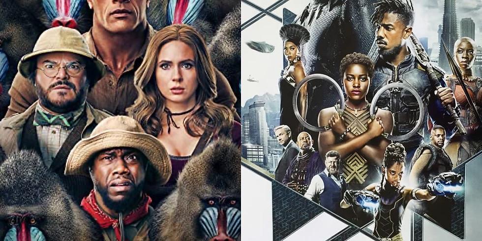 Jumanji: Next Level and Black Panther