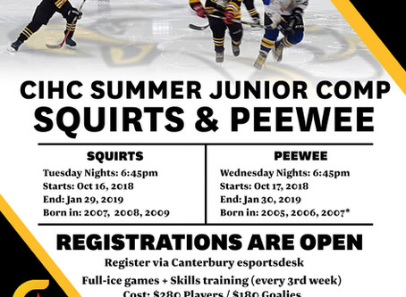 Squirts and Peewee Summer Comp
