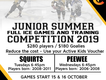 Registrations open for our Junior Summer Comp