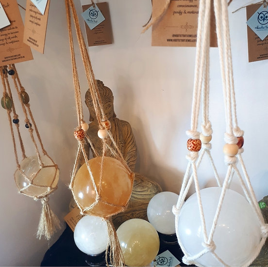 Hanging Calcite Crystal Spheres