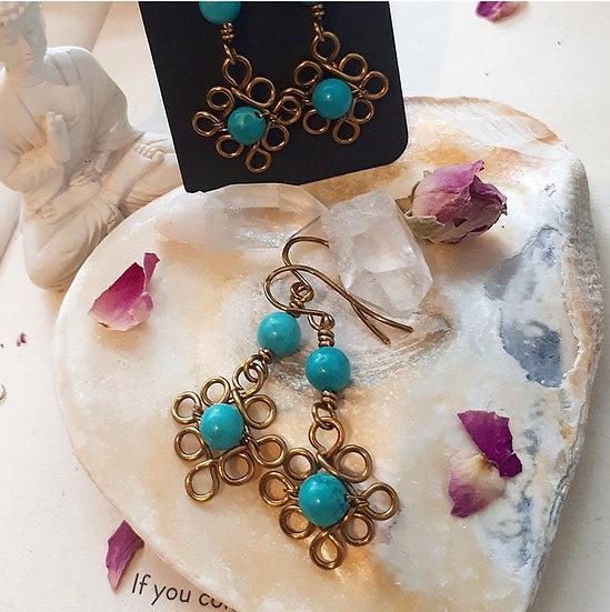 Turquoise Edwardian-style Earrings