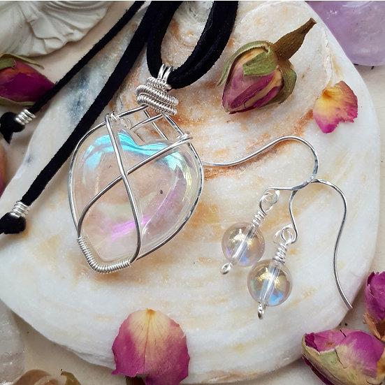 Angel Aura Pendant and Earring Set