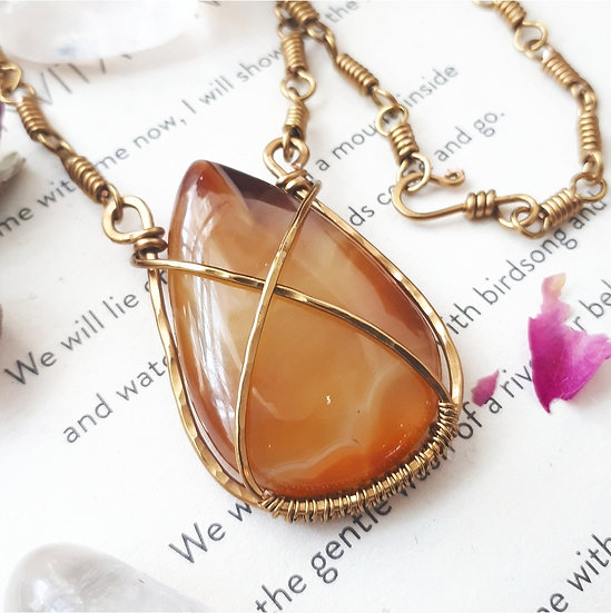 Agate Pendant (with optional earrings)