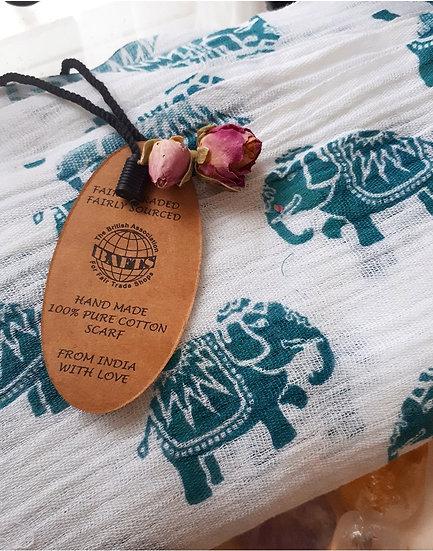 Elephant Print Scarf/shawl