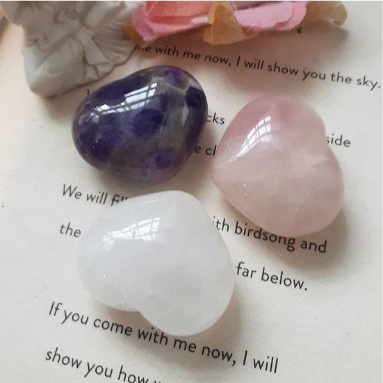 Crystal Healing Heart Trio