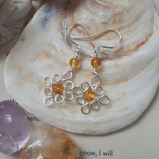 Edwardian-style Amber Earrings