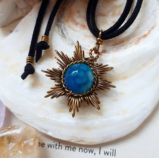 Blue Agate Solstice Pendant