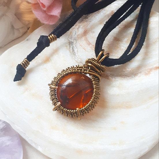 Amber Dragon's Eye Pendant