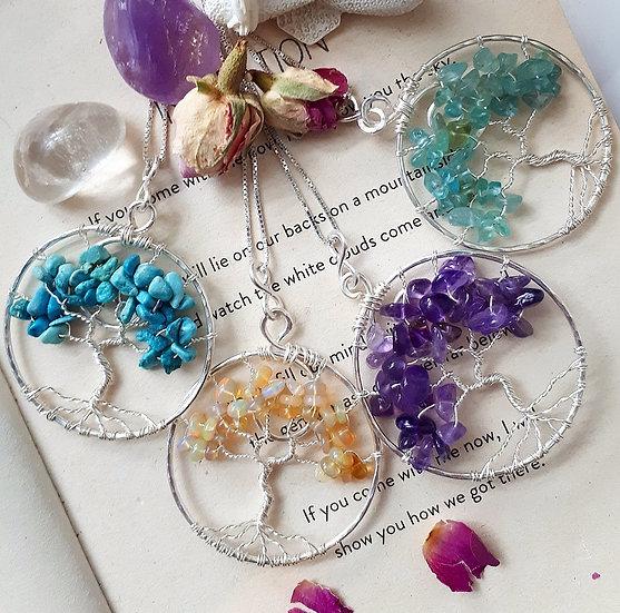 Crystal Tree of Life Pendants