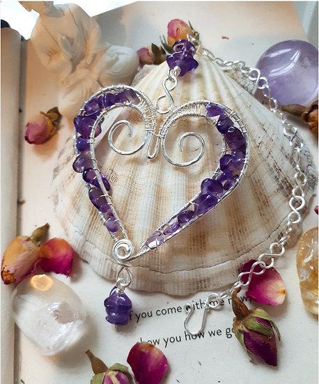 Crystal Healing Heart Hanging Decoration
