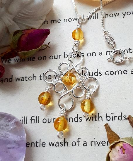 Edwardian Style Amber Necklace
