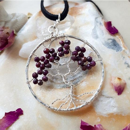 Ruby Tree of Life Pendant
