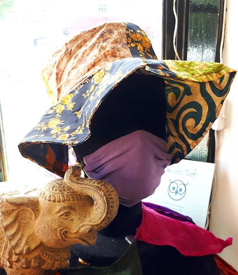 Floppy Recycled Sari Patchwork Hat