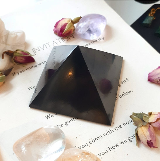 Shungite Crystal  Pyramid