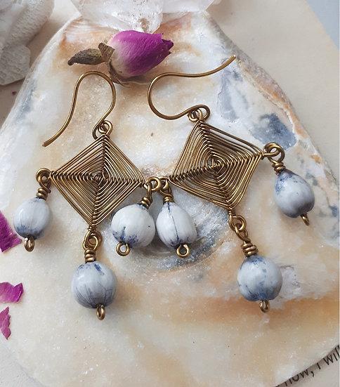 Ojo de Dios (God's Eye) Earrings