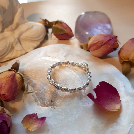 Rope Ring in Eco-silver (sterling)