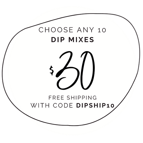 Delightful Deal - 10 Dip Mixes