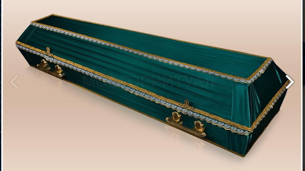 гроб Траур. Ткань:шелк,атлас,бархат размер 1,7-2,2 м.