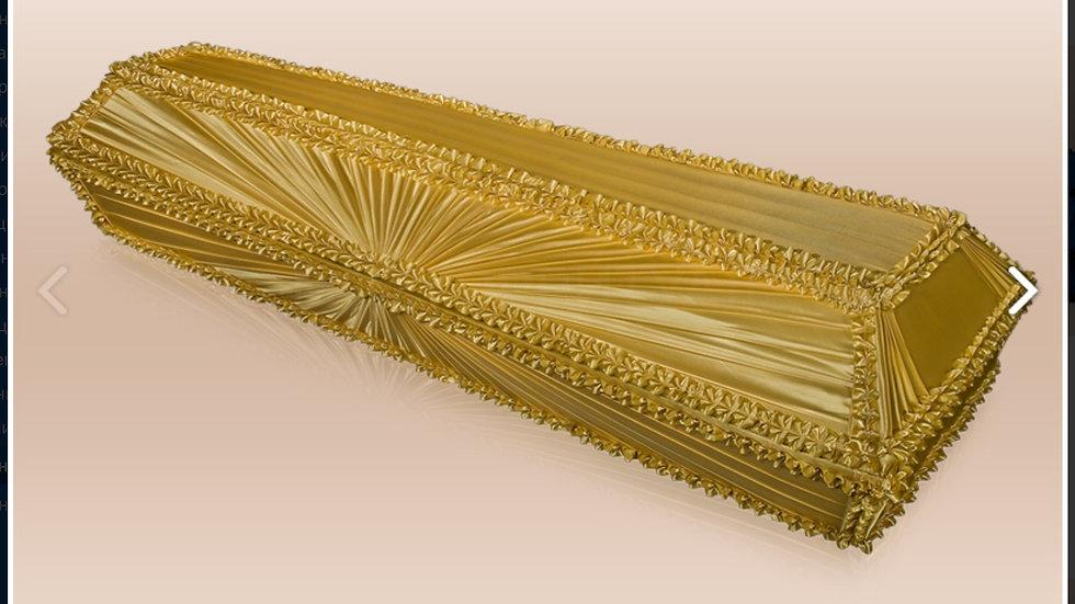 гроб Луч. Ткань:шелк,атлас,бархат размер 1,7-2,2 м.