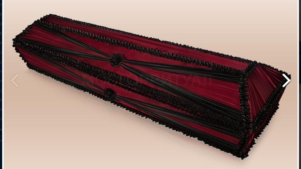 гроб Бант .  Ткань:шелк,атлас,бархат размер 1,7-2,2 м.