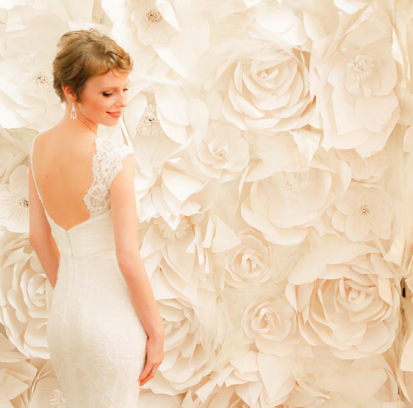 Mur de fleurs géantes - photocall floral