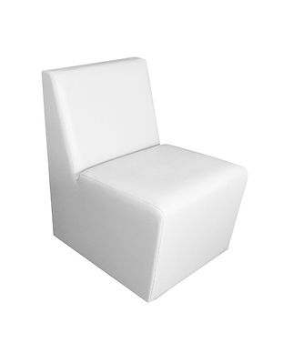 Chauffeuse blanche lounge mobilier cockt