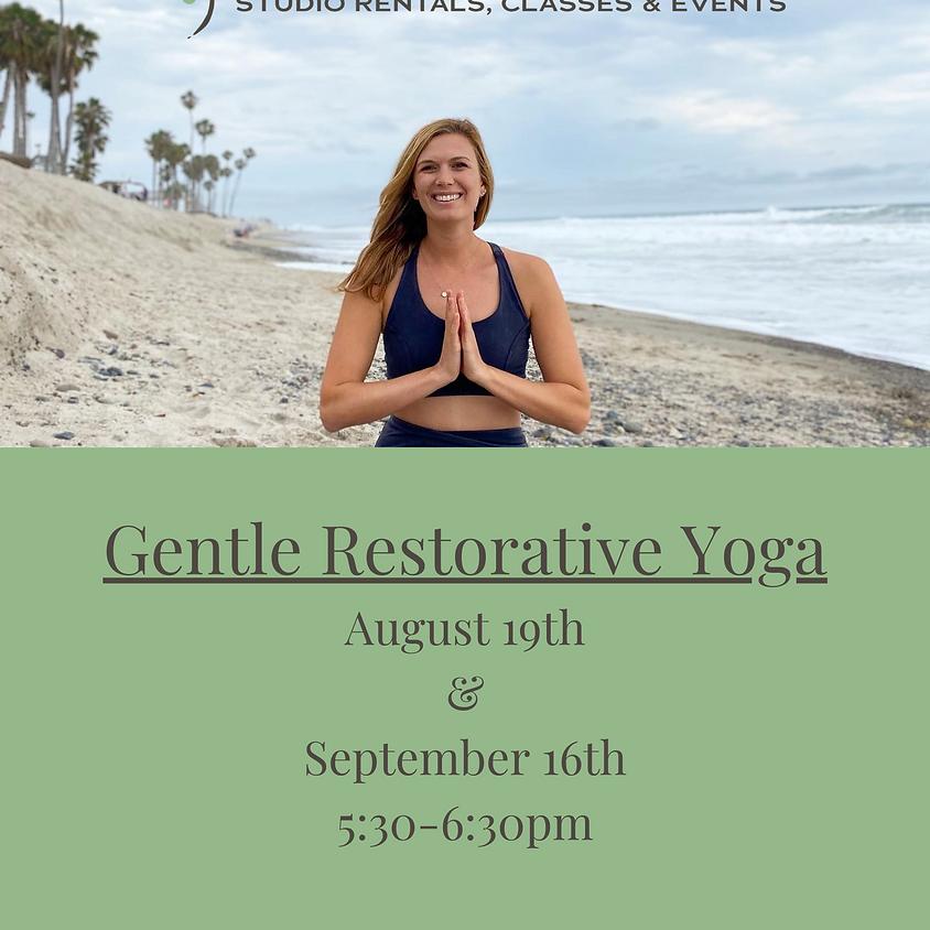 Gentle Restorative Yoga led by Joyce Gorman