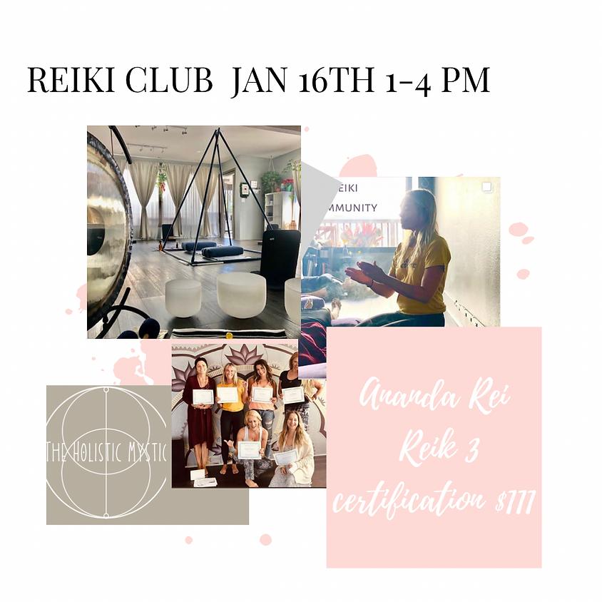 Reiki Club-led by Alicia McNaughton