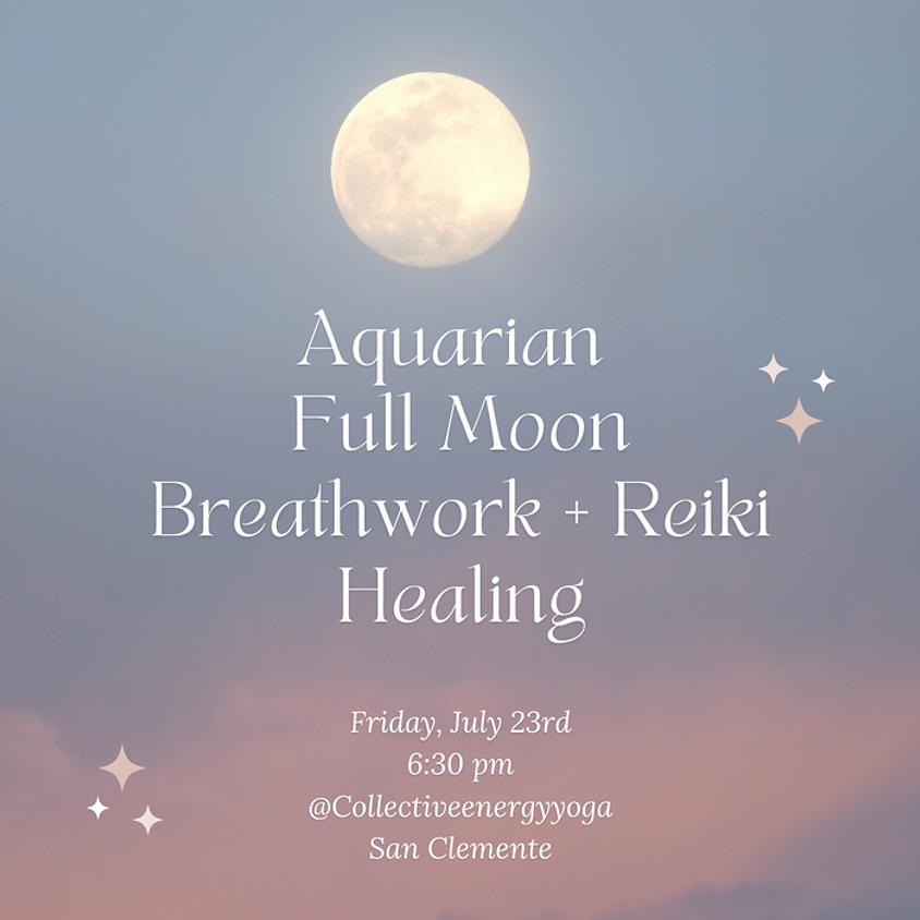 Aquarian Full Moon Breathwork & Reiki Workshop w/Erin & Rachele