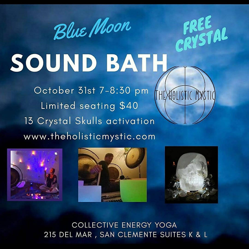 Halloween 13 Crystal Skulls Sound Bath with The Holistic Mystic